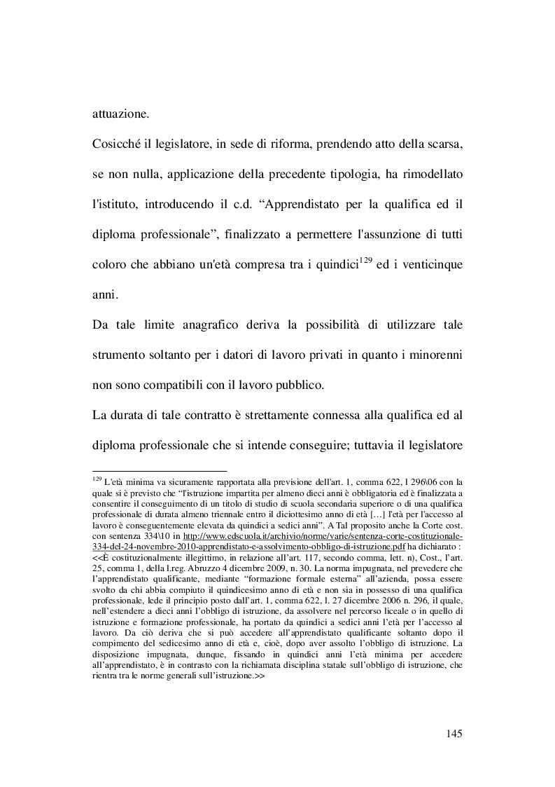 Estratto dalla tesi: Il contratto di apprendistato