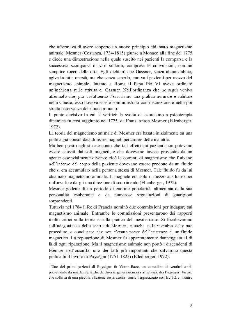 Estratto dalla tesi: Il Disturbo Dissociativo dell'Identità Secondo Ellenberger e Casi Bibliografici