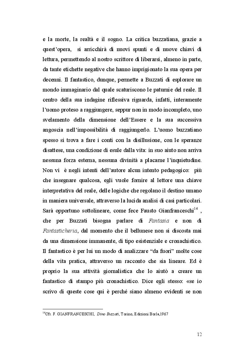 Estratto dalla tesi: I Sessanta racconti di Dino Buzzati, un viaggio tra simbolo e realtà