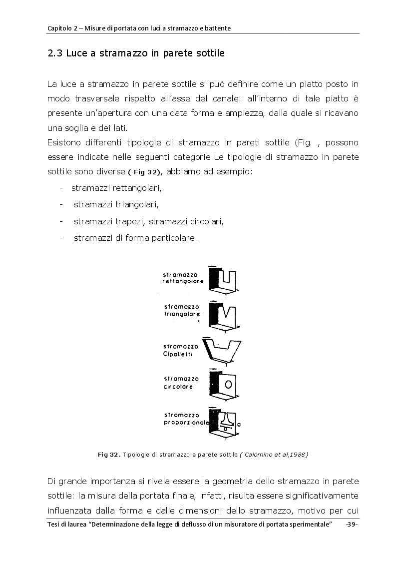 Estratto dalla tesi: La misura delle portate effluenti da un tetto verde : studio della legge di efflusso di un misuratore volumetrico sperimentale