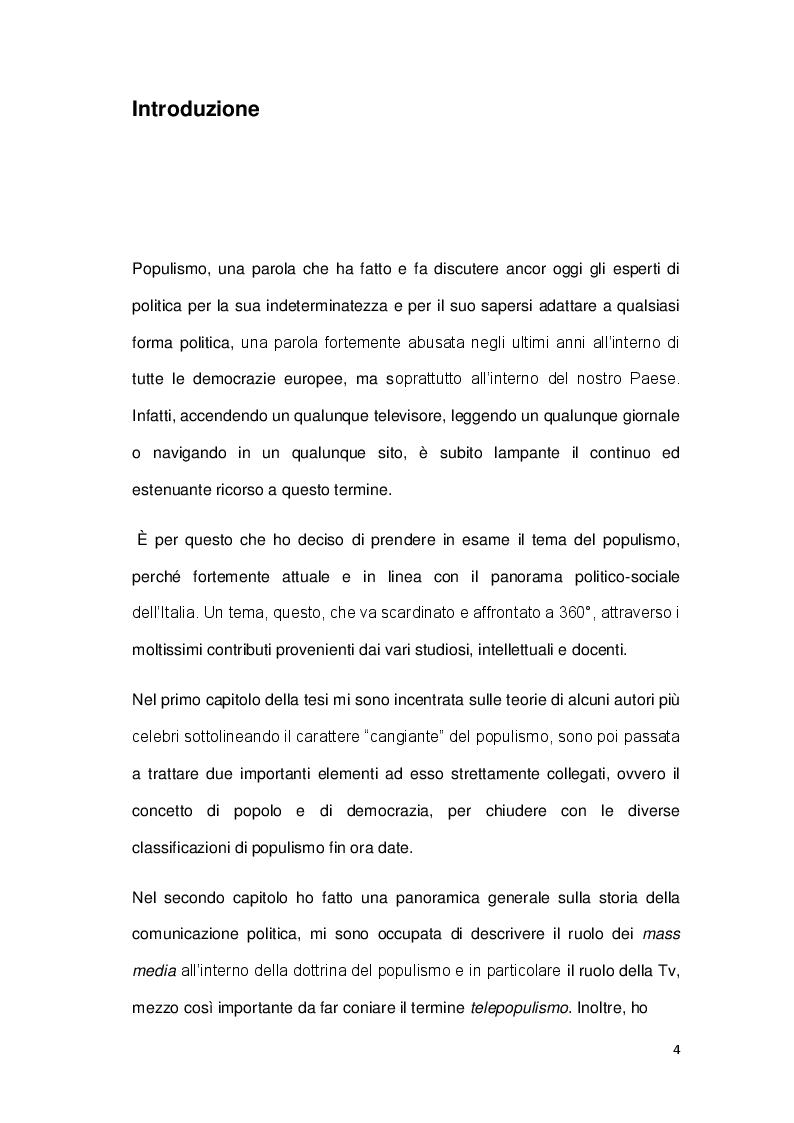 Anteprima della tesi: La sindrome del populismo. Il caso del Movimento Cinque Stelle, Pagina 2