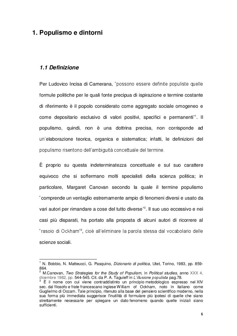 Anteprima della tesi: La sindrome del populismo. Il caso del Movimento Cinque Stelle, Pagina 4