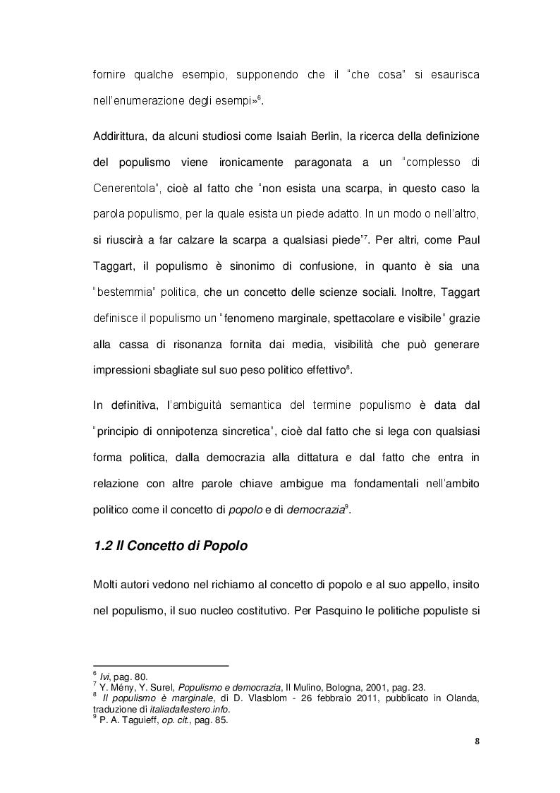 Anteprima della tesi: La sindrome del populismo. Il caso del Movimento Cinque Stelle, Pagina 6