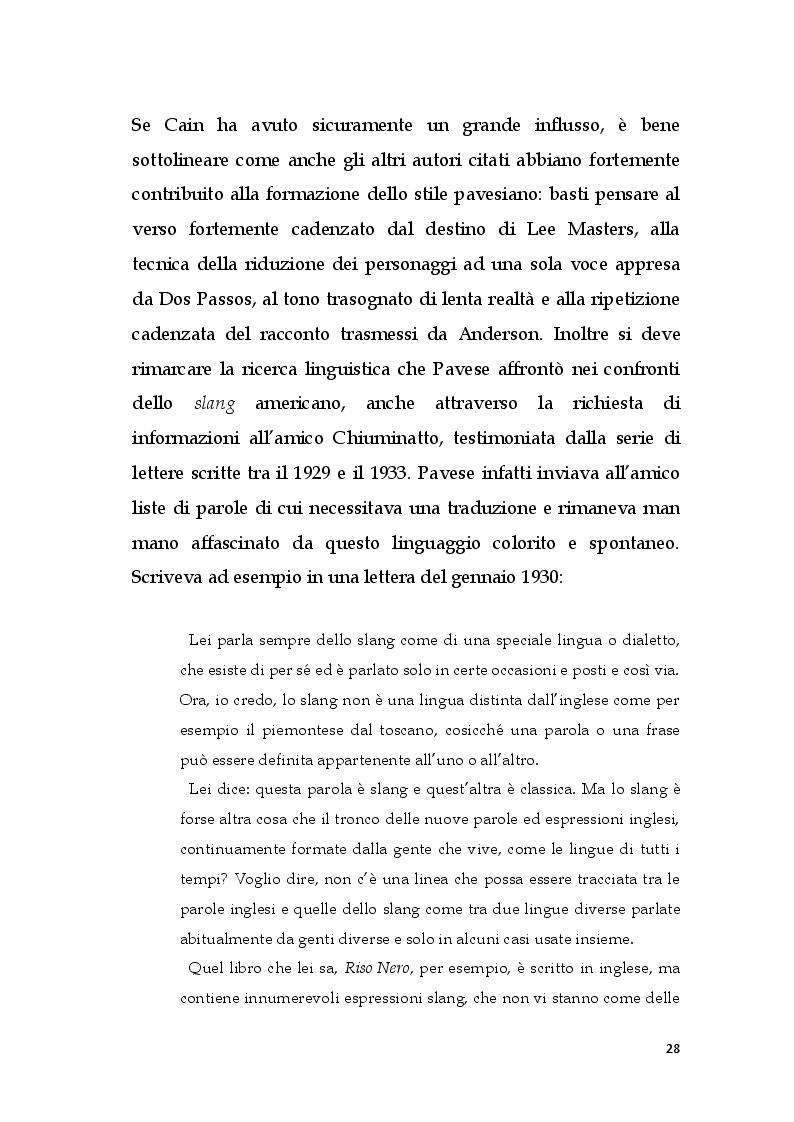 Estratto dalla tesi: Storia e mito nei romanzi di Cesare Pavese
