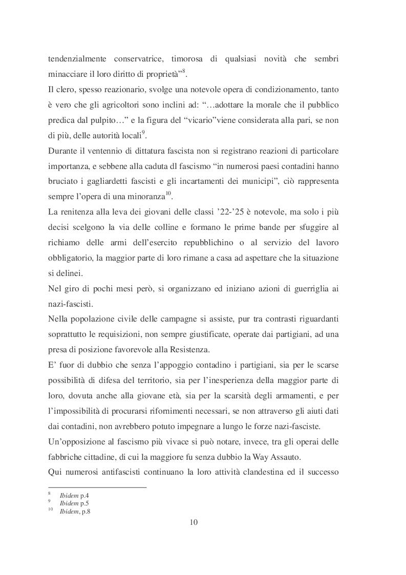 Estratto dalla tesi: L'insurrezione partigiana di Santa Libera (Agosto 1946) e il difficile passaggio dal fascismo alla democrazia