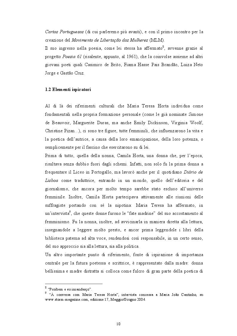 Estratto dalla tesi: A pulsao mais negra - una proposta di traduzione e di indagine ferencziana del romanzo ''A Paixao segundo Constança H.'' di Maria Teresa Horta