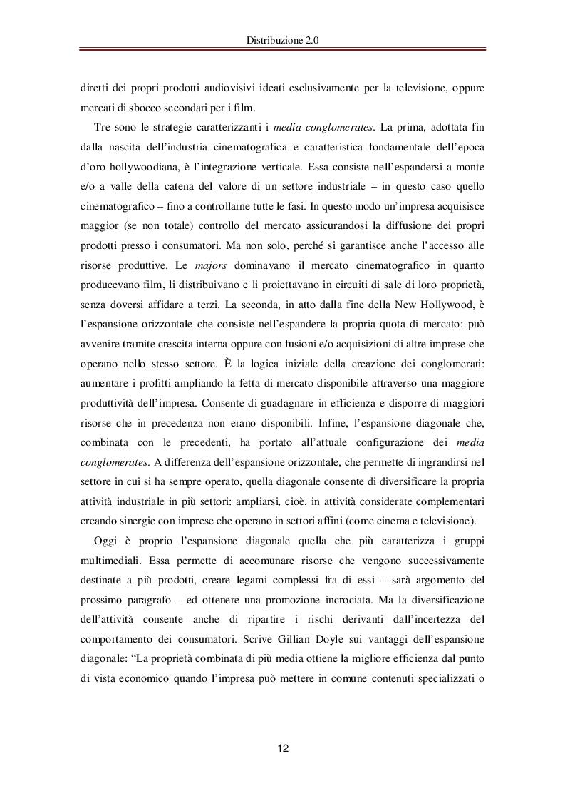 Estratto dalla tesi: Distribuzione 2.0 - Le nuove frontiere della distribuzione audiovisiva online