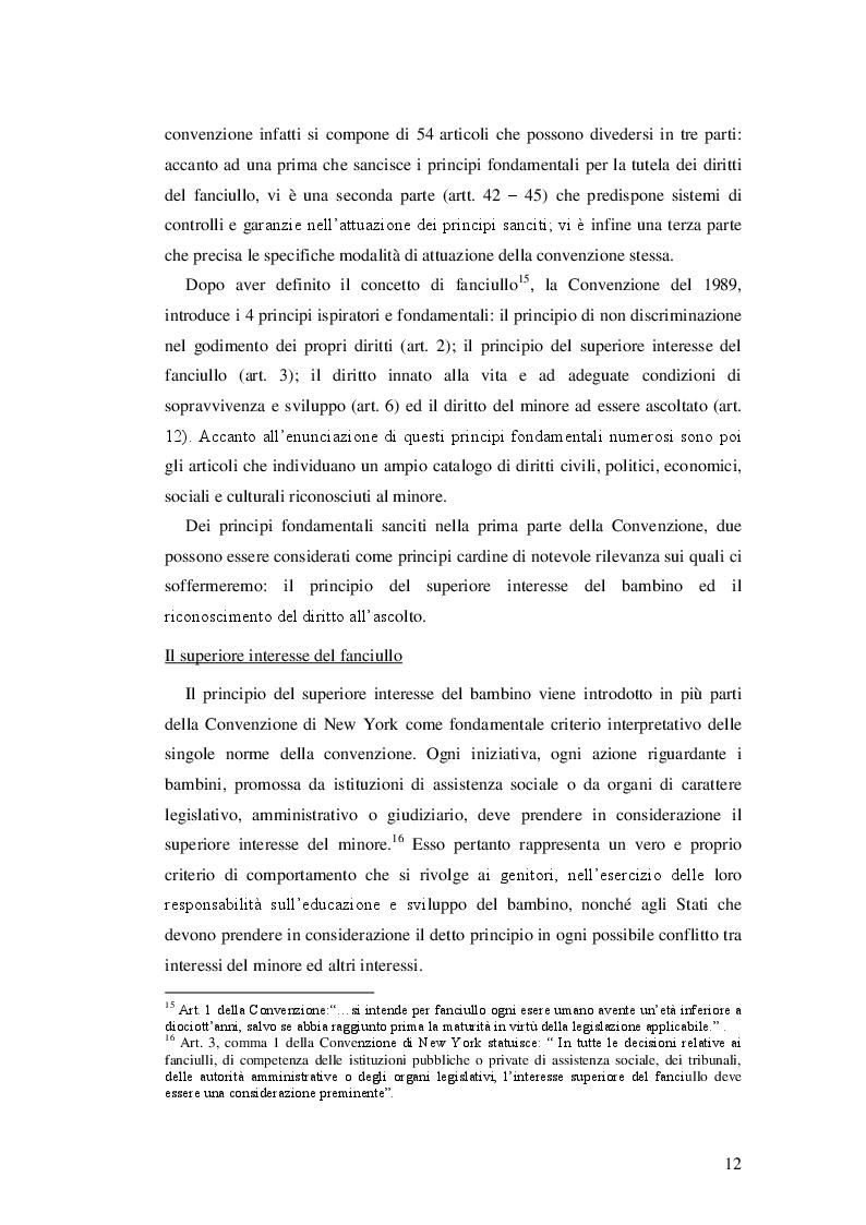 Estratto dalla tesi: Il minore nel diritto internazionale e nel diritto dell'Unione Europea