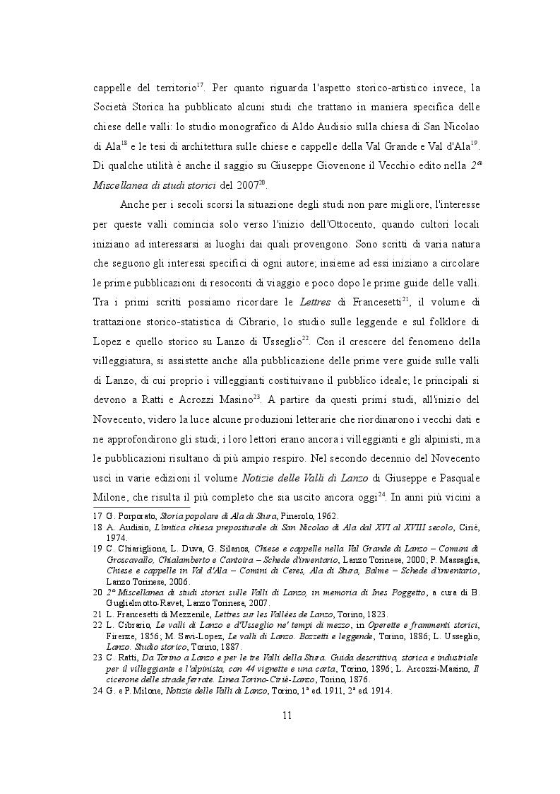 Estratto dalla tesi: Il patrimonio figurativo delle valli di Lanzo. Primi studi