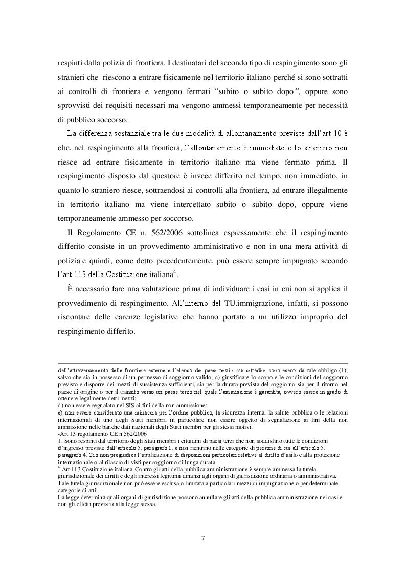 Estratto dalla tesi: Sull'illegittimità della pratica dei respingimenti in  alto mare operati dal Governo italiano: l'intervento  della Corte europea dei diritti dell'uomo