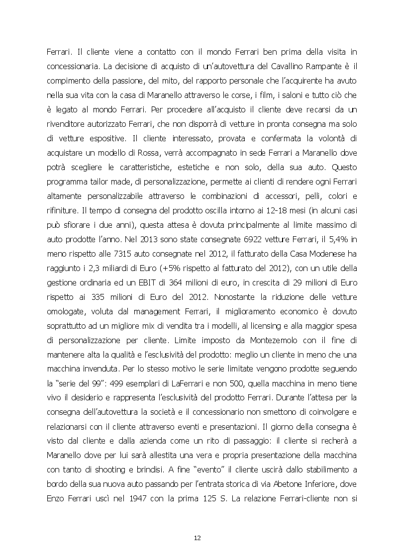 Estratto dalla tesi: Come si costruisce un mito. Marketing e comunicazione in Ferrari