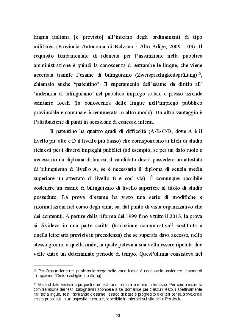 Estratto dalla tesi: L'essenza dell'integrazione in Alto Adige-Südtirol. Un'indagine tra le famiglie mistilingui di Appiano.