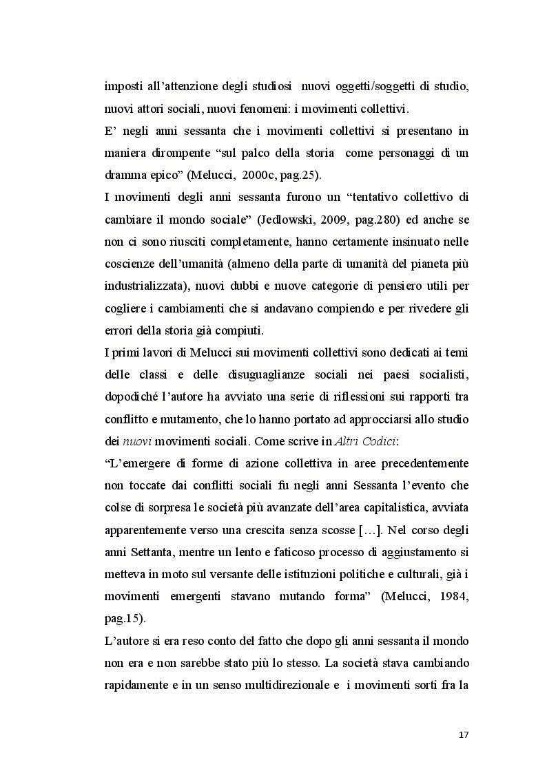 Estratto dalla tesi: Alberto Melucci: in un passaggio d'epoca. Verso la riflessività