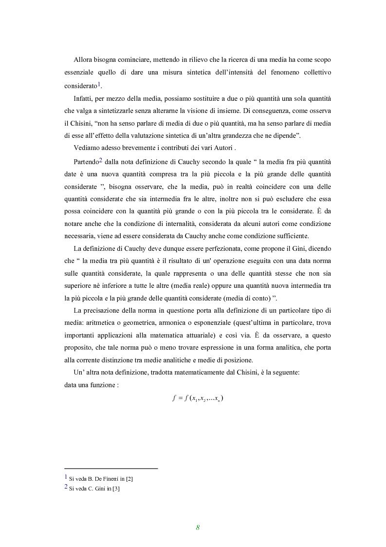 Anteprima della tesi: Applicazione di alcune disuguaglianze all'andamento di funzioni finanziarie e attuariali, Pagina 3