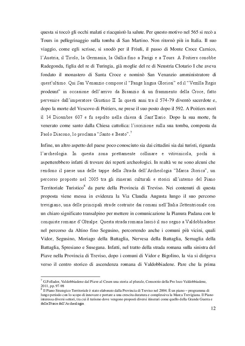 Estratto dalla tesi: L'offerta turistica di Valdobbiadene