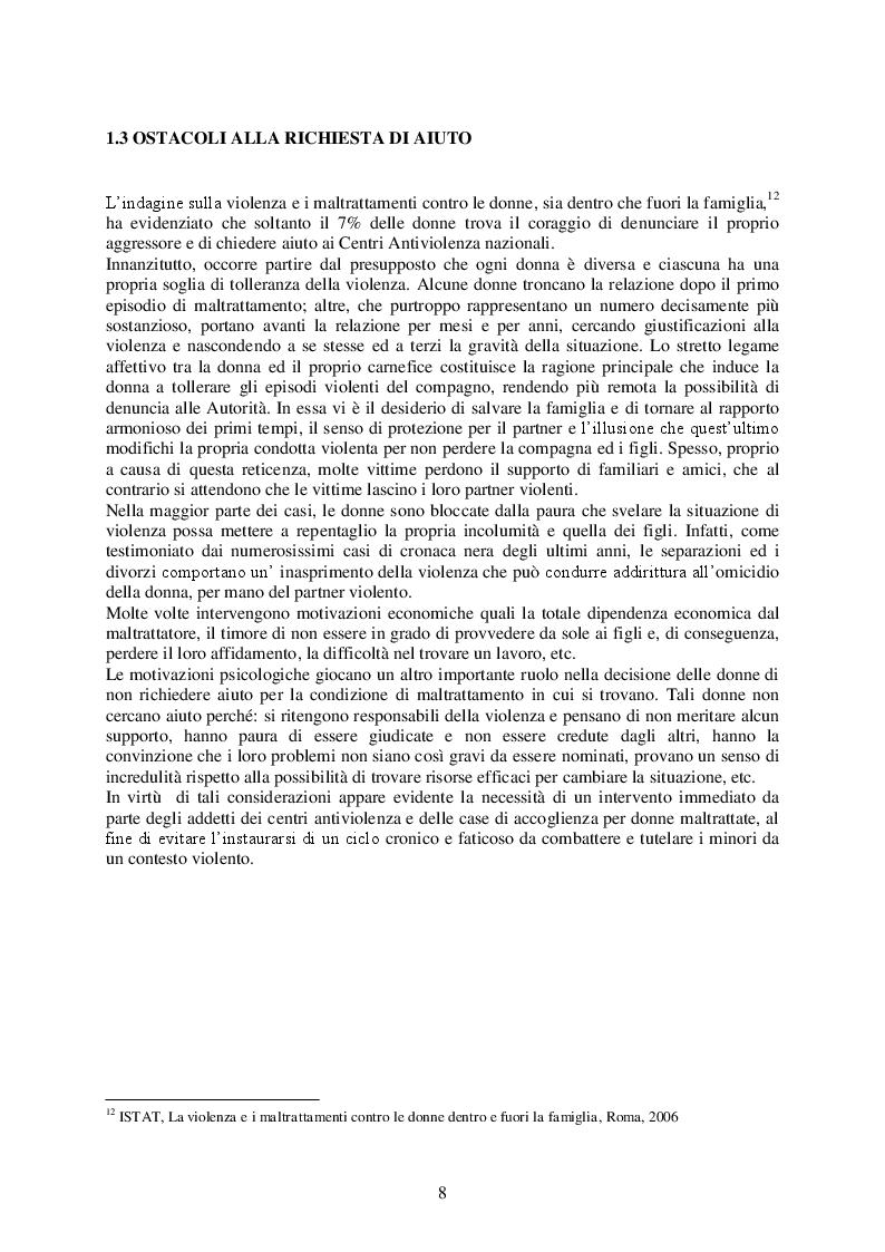 Estratto dalla tesi: La comunicazione sociale e la violenza sulle donne: due campagne a confronto