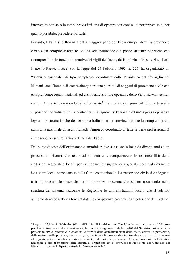 Estratto dalla tesi: Il ruolo della protezione civile europea ed il sistema dell'aiuto umanitario: meccanismo di coordinamento e Prospettive di sviluppo
