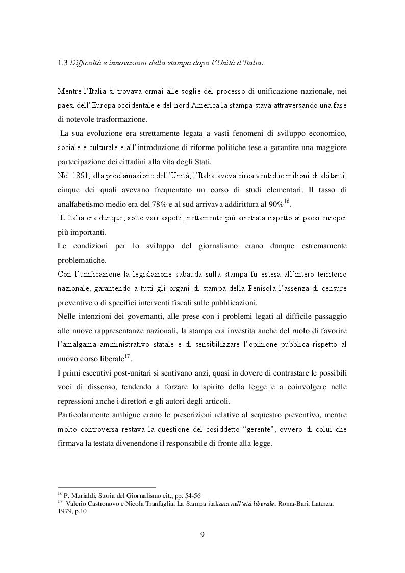 Estratto dalla tesi: Un pioniere del giornalismo italiano: Eugenio Torelli Viollier e le origini del Corriere della Sera