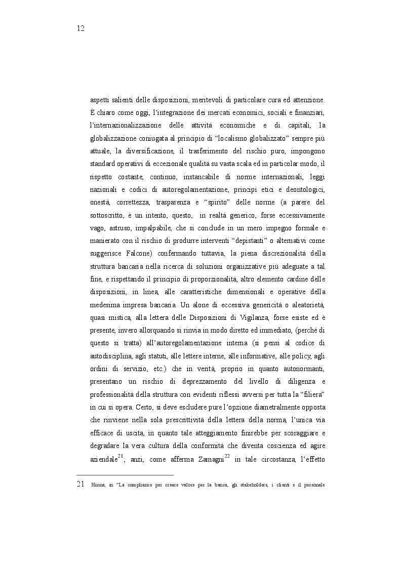 Estratto dalla tesi: Compliance e Audit - Operatività della funzione e stato dell'arte: sensibilità del sistema bancario e approcci innovativi