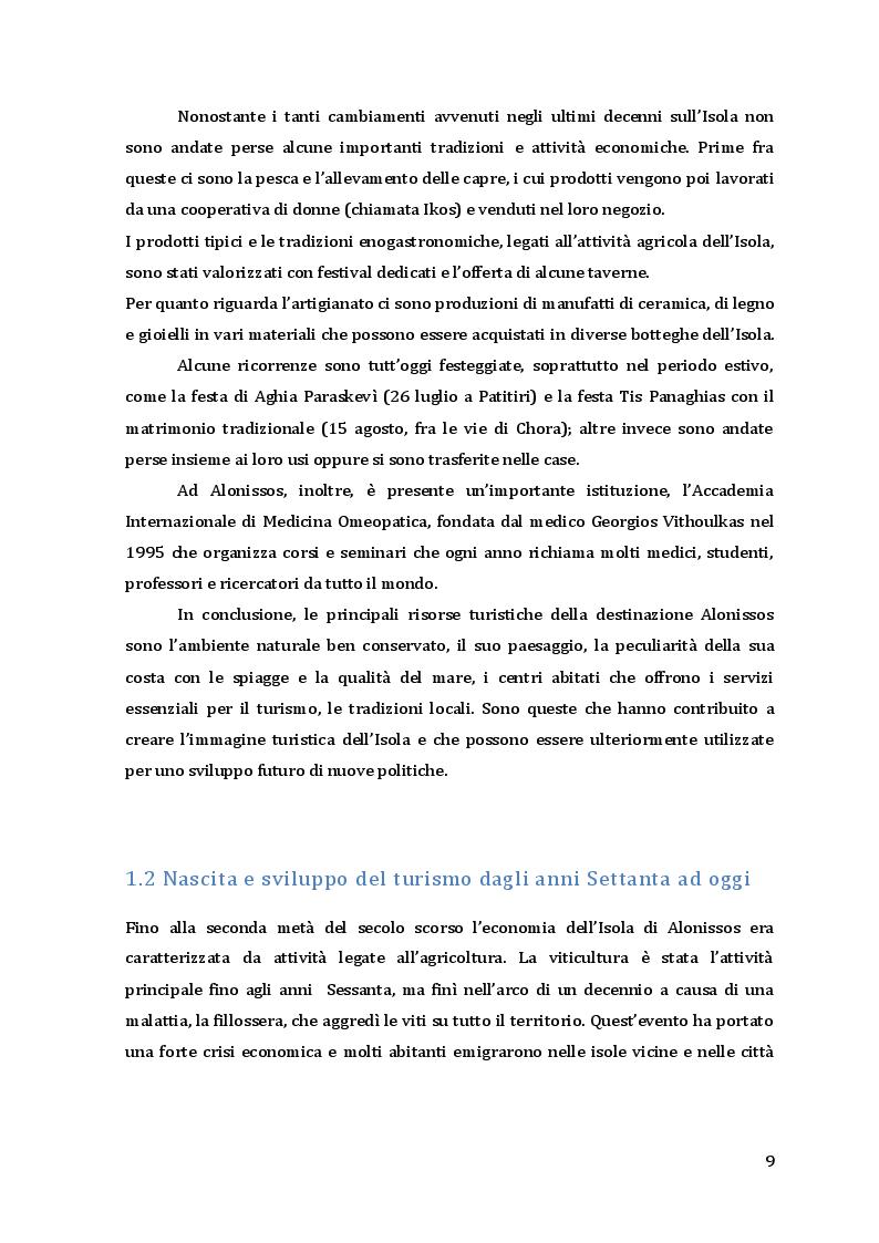 Estratto dalla tesi: Turismo e sviluppo sostenibile: il caso dell'Isola di Alonissos