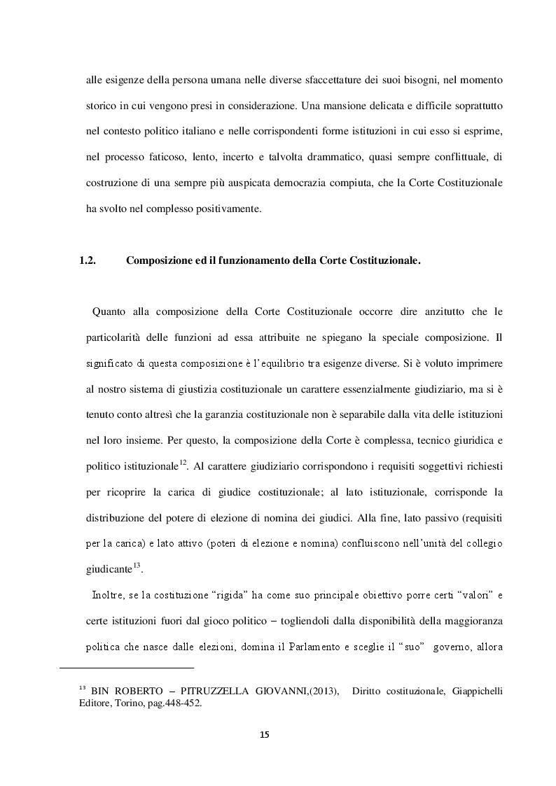 """Estratto dalla tesi: """"…..la Corte Costituzionale vestale della Costituzione….."""" e sua attività interpretativa"""