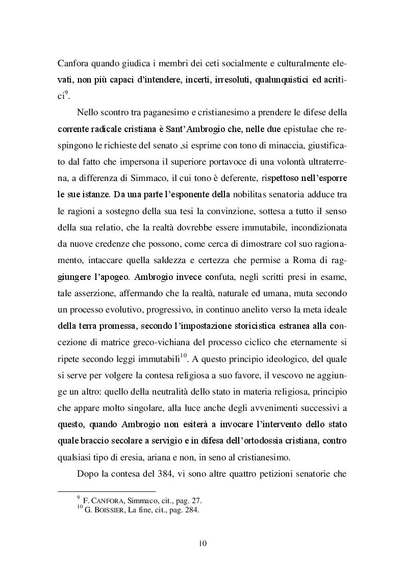 Estratto dalla tesi: Altare della Vittoria: una controversia tra pagani e cristiani nel IV sec. d.C.