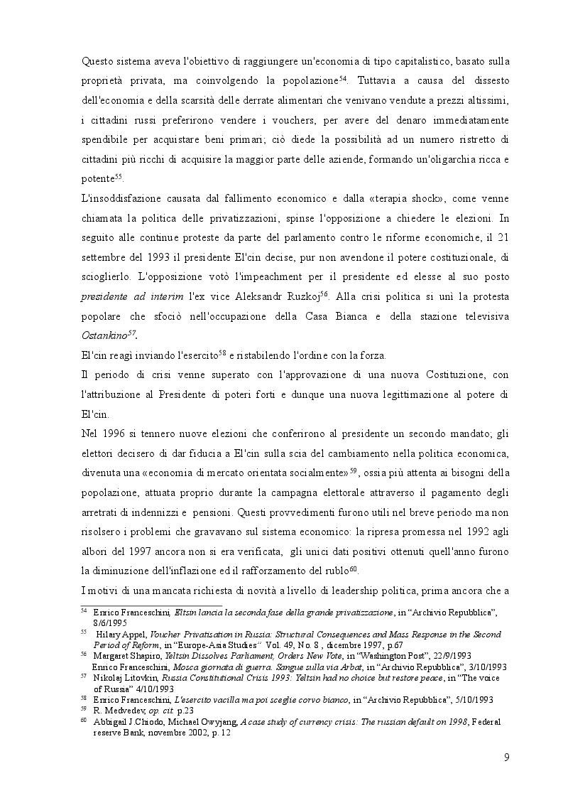 Estratto dalla tesi: Spunti per uno studio della politica della Federazione Russa nell'area del Mar Nero