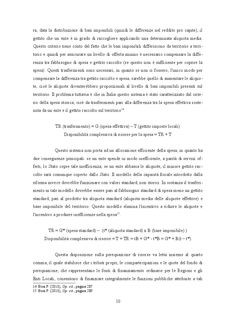 Estratto dalla tesi: Il federalismo fiscale in Italia. L'autonomia degli enti territoriali tra Patto di stabilità interno e decentramento incompiuto