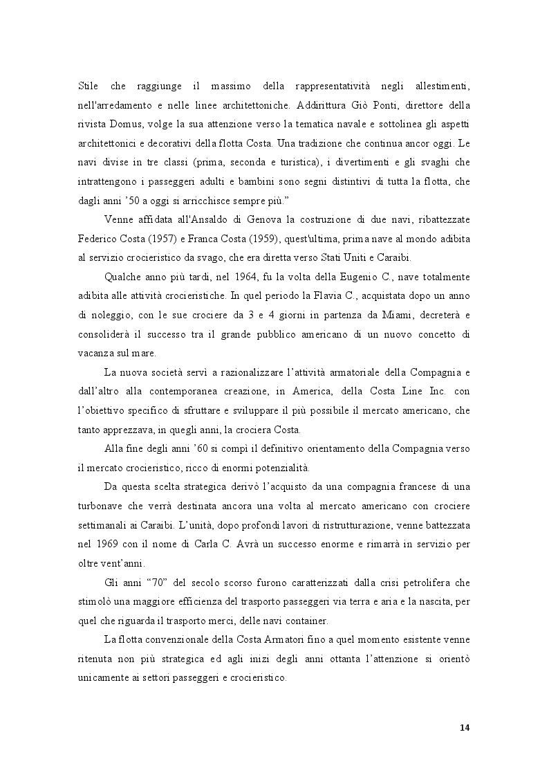 Estratto dalla tesi: Analisi economico-finanziaria: il caso Costa Crociere