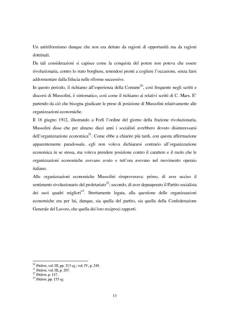 Anteprima della tesi: Benito Mussolini e la politica economica italiana, Pagina 10
