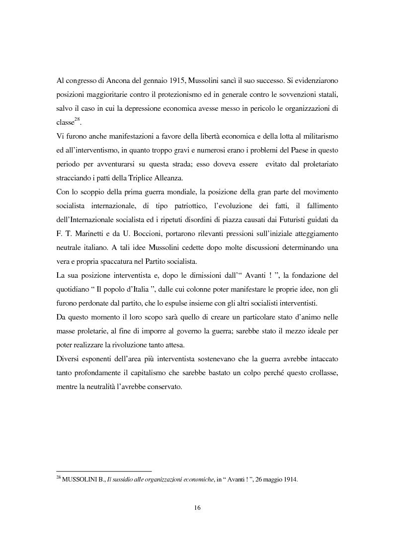 Anteprima della tesi: Benito Mussolini e la politica economica italiana, Pagina 13