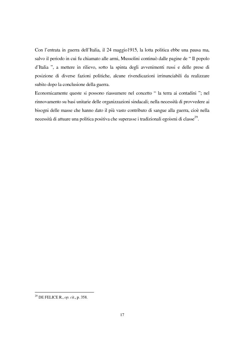 Anteprima della tesi: Benito Mussolini e la politica economica italiana, Pagina 14