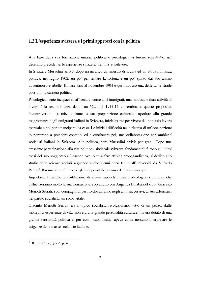 Anteprima della tesi: Benito Mussolini e la politica economica italiana, Pagina 4
