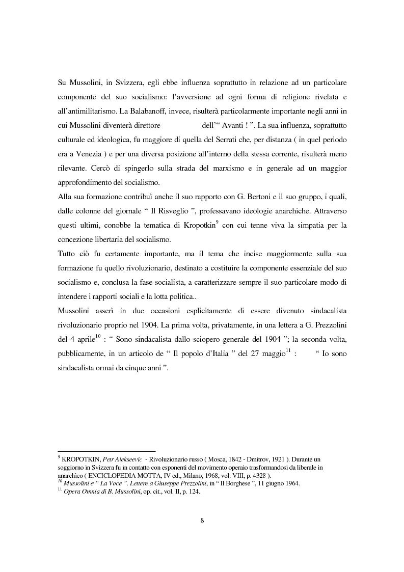 Anteprima della tesi: Benito Mussolini e la politica economica italiana, Pagina 5