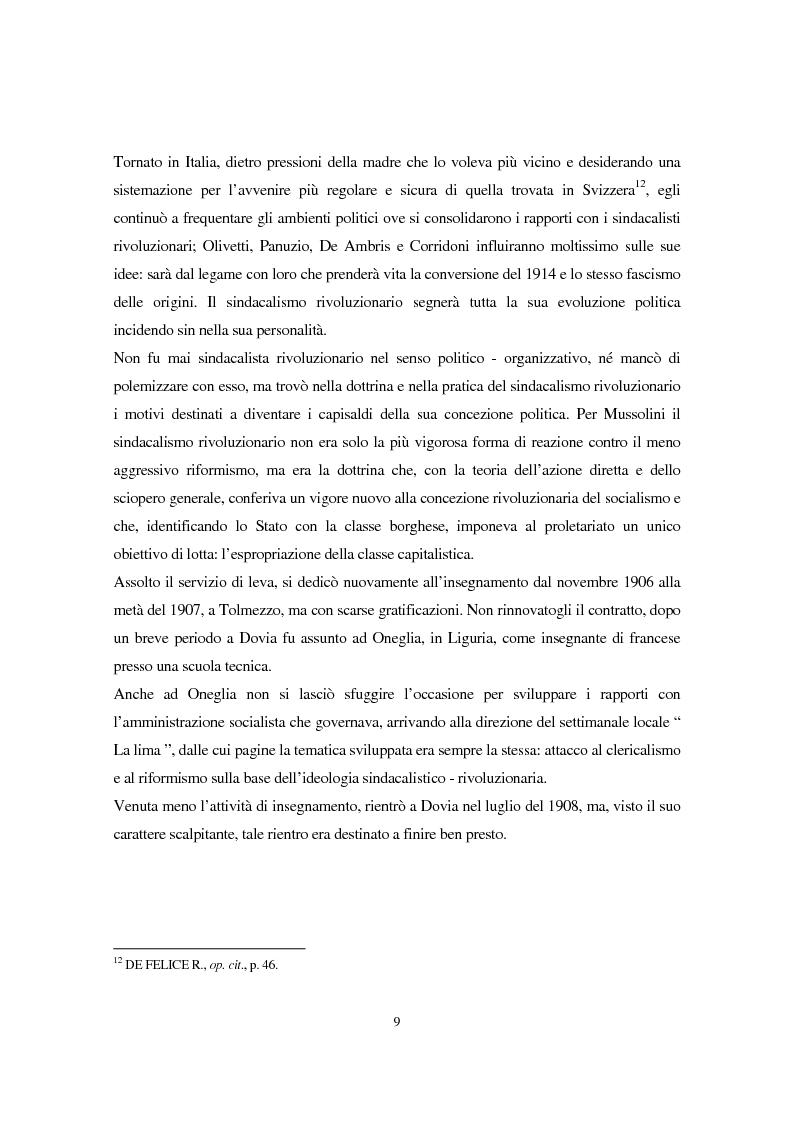 Anteprima della tesi: Benito Mussolini e la politica economica italiana, Pagina 6
