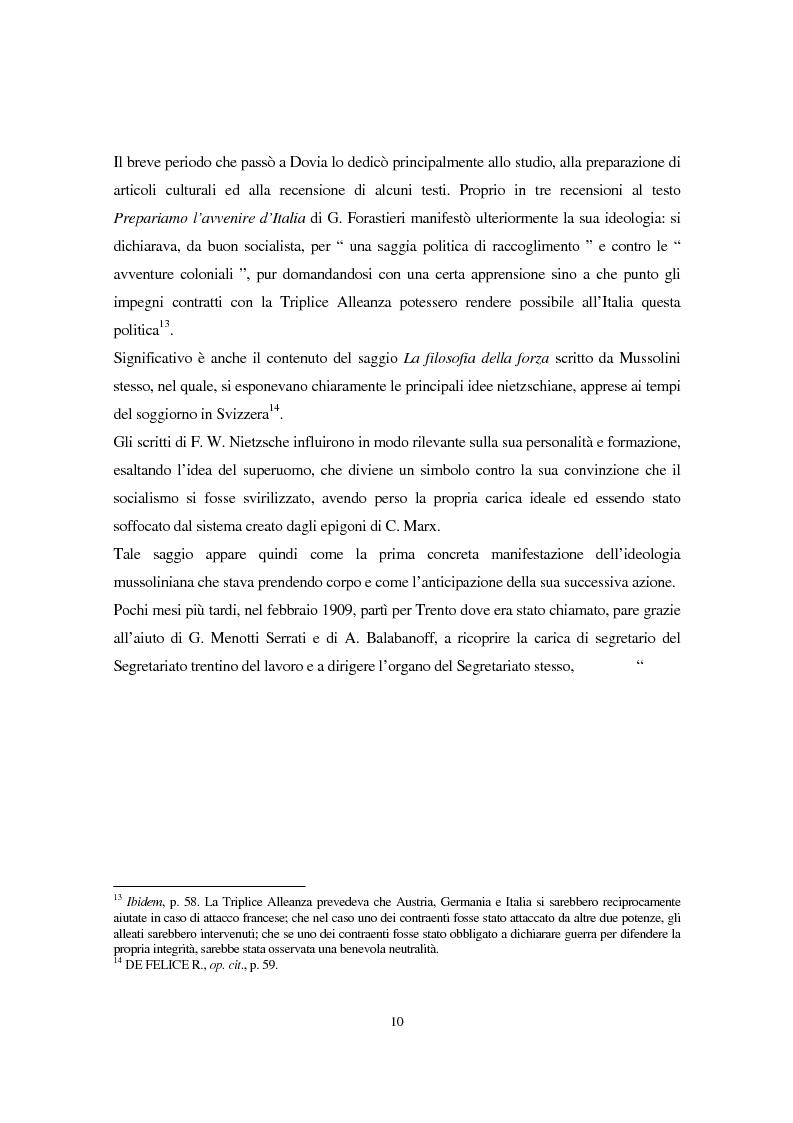 Anteprima della tesi: Benito Mussolini e la politica economica italiana, Pagina 7
