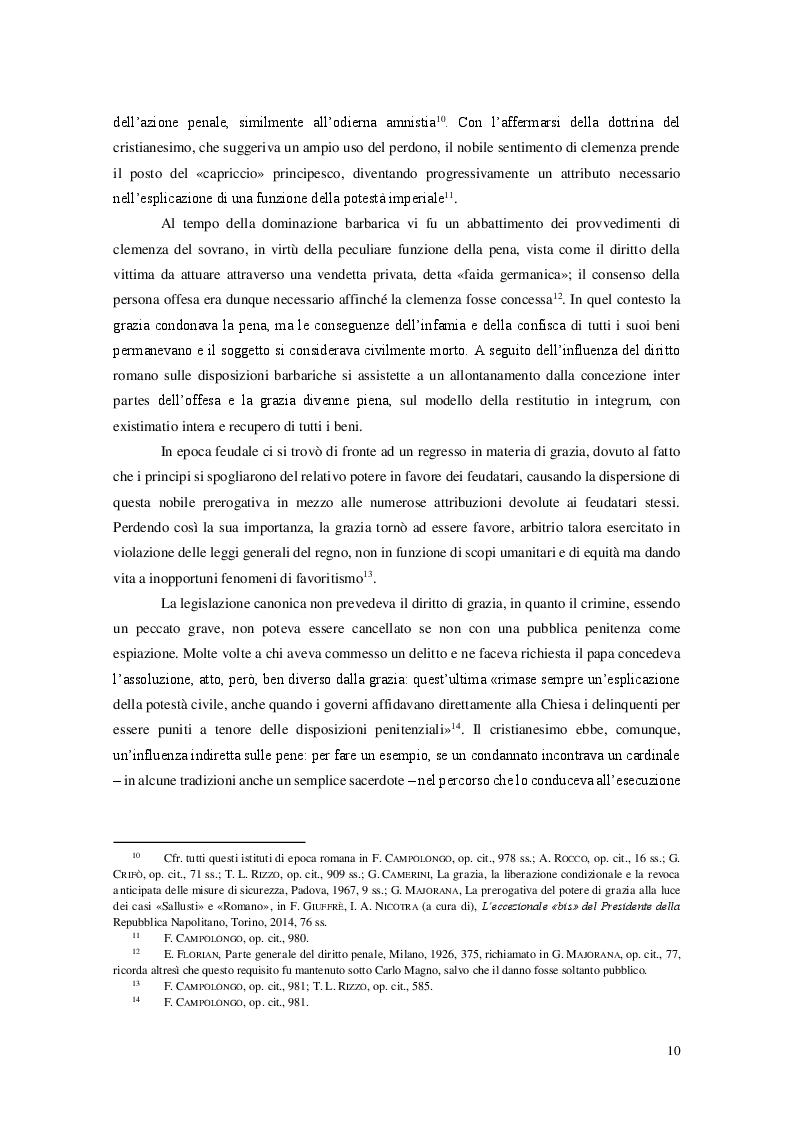 Estratto dalla tesi: L'istituto della grazia nell'ordinamento costituzionale italiano