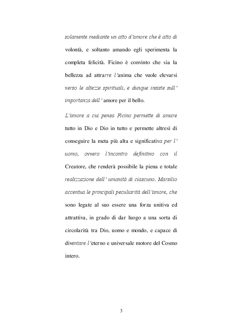 Anteprima della tesi: Ricostruzione critico-culturale della dottrina dell'amore come formulata da Ficino in studi di lingua francese: A.J.Festugiére e Marcel Raymond, Pagina 4