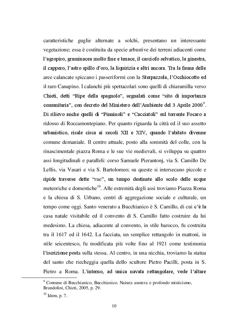 Estratto dalla tesi: Rievocazioni storiche in Abruzzo: destinazioni di successo per la destagionalizzazione dell'offerta turistica (La Festa dei Banderesi a Bucchianico; La Giostra cavalleresca a Sulmona; ''A la corte de lo governatore'' a Civitella del Tronto