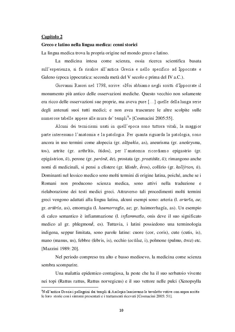 Estratto dalla tesi: I composti neoclassici in un testo medico
