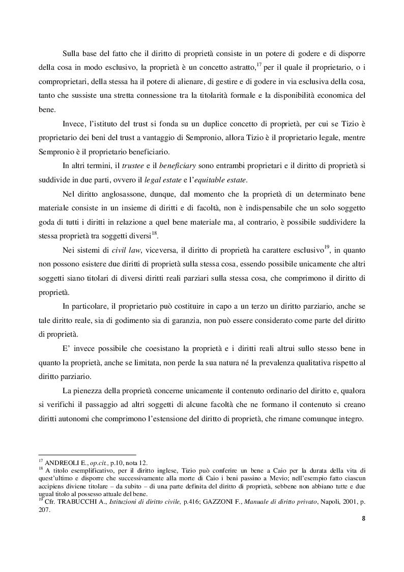 Estratto dalla tesi: Il regime tributario del trust in Italia.