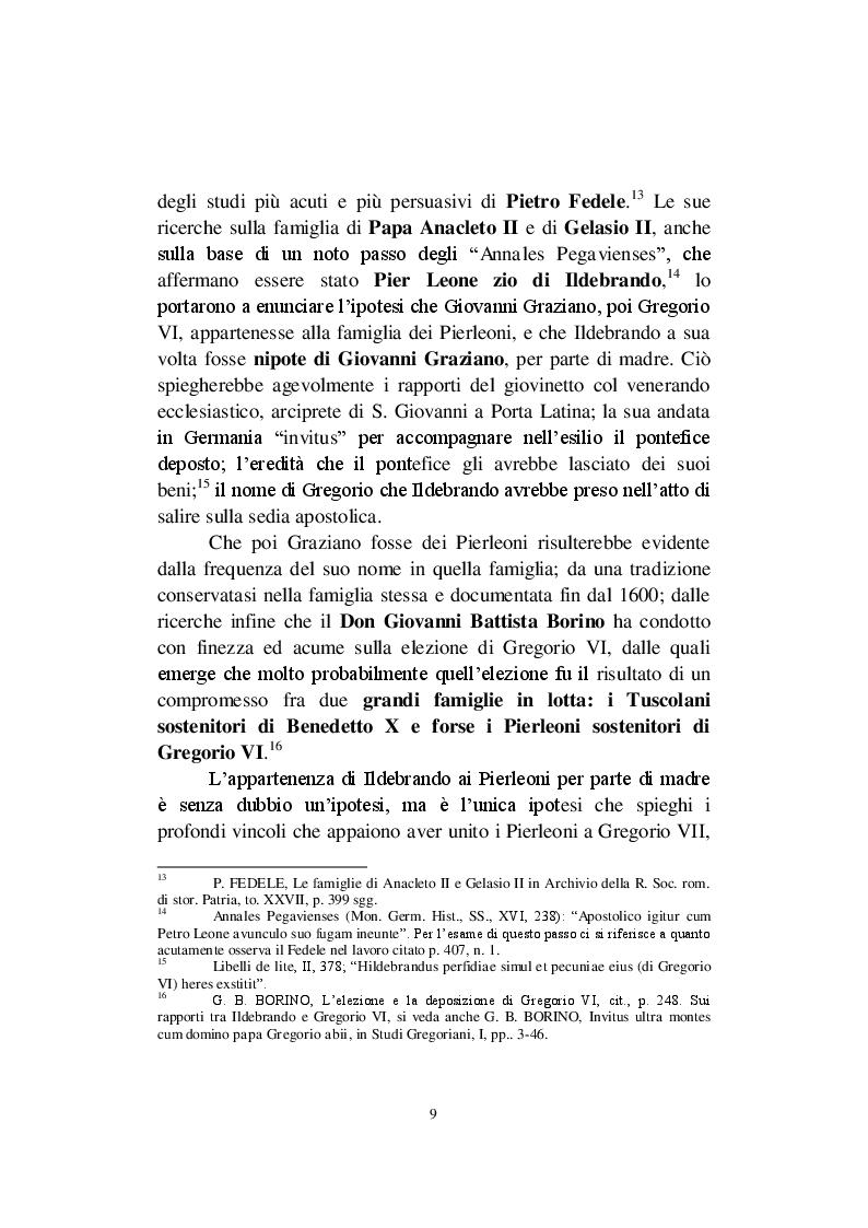 Estratto dalla tesi: La Riforma Gregoriana