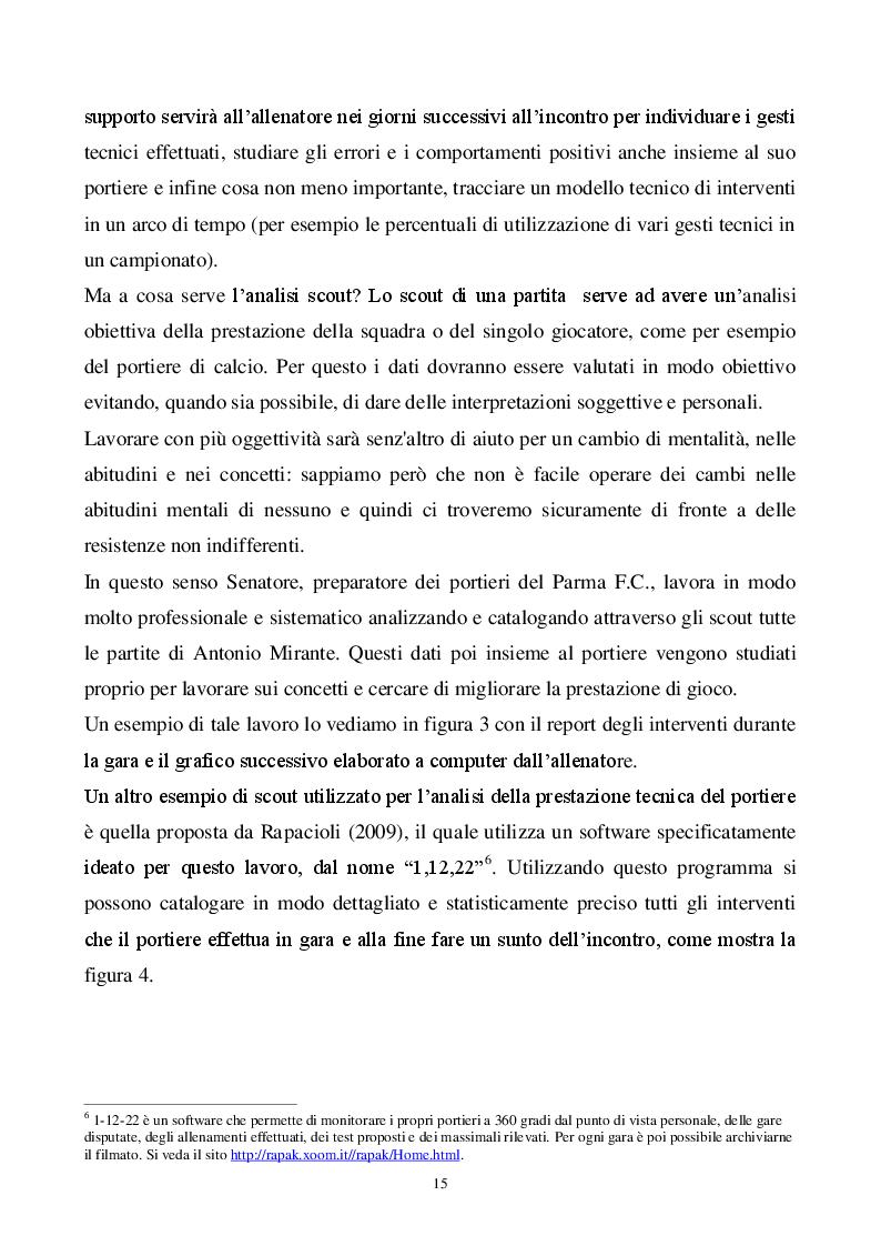 Estratto dalla tesi: Classificazione e analisi tecnica del portiere di calcio. Dal modello di prestazione alla formazione nel settore giovanile