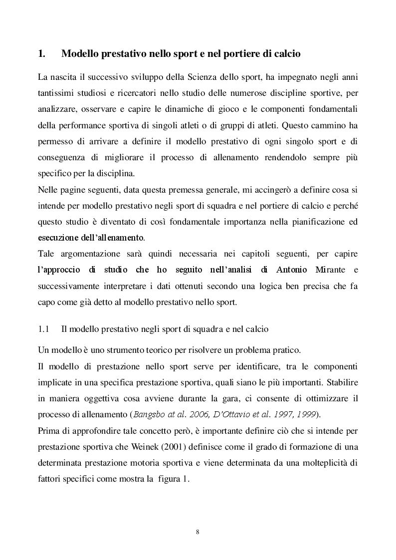 Anteprima della tesi  Classificazione e analisi tecnica del portiere di  calcio. Dal modello di. « 744d82fbfe08