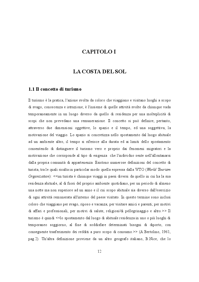 Estratto dalla tesi: IL TURISMO NELLA COSTA DEL SOL: punti di forza e aspetti critici