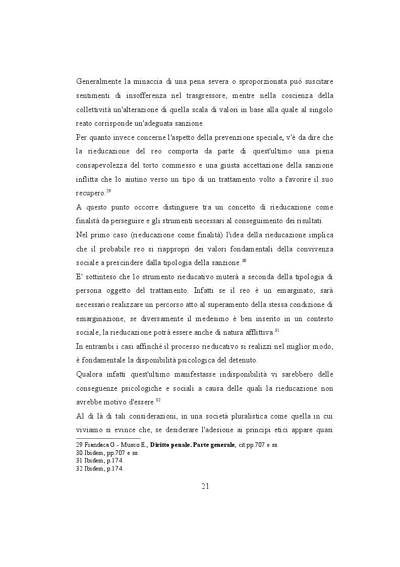 Estratto dalla tesi: L'evoluzione del sistema penale nella prospettiva del reinserimento sociale del detenuto.