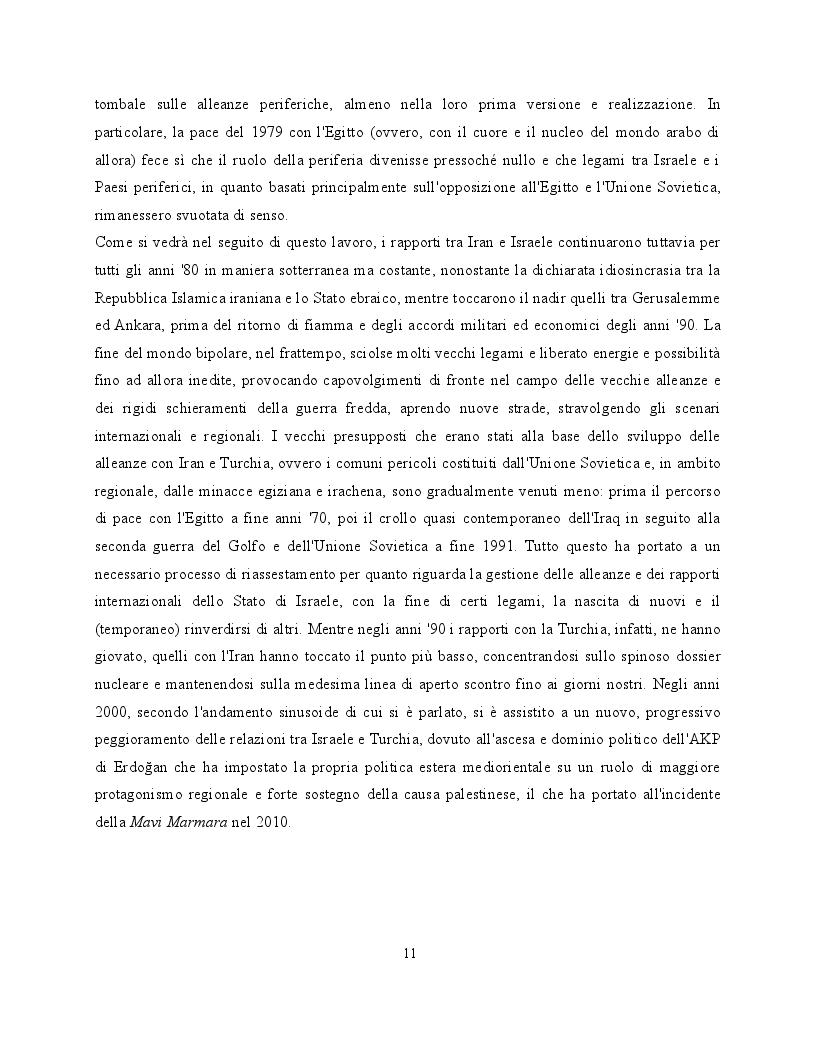 Estratto dalla tesi: La mossa del cavallo. Israele e la strategia delle alleanze periferiche