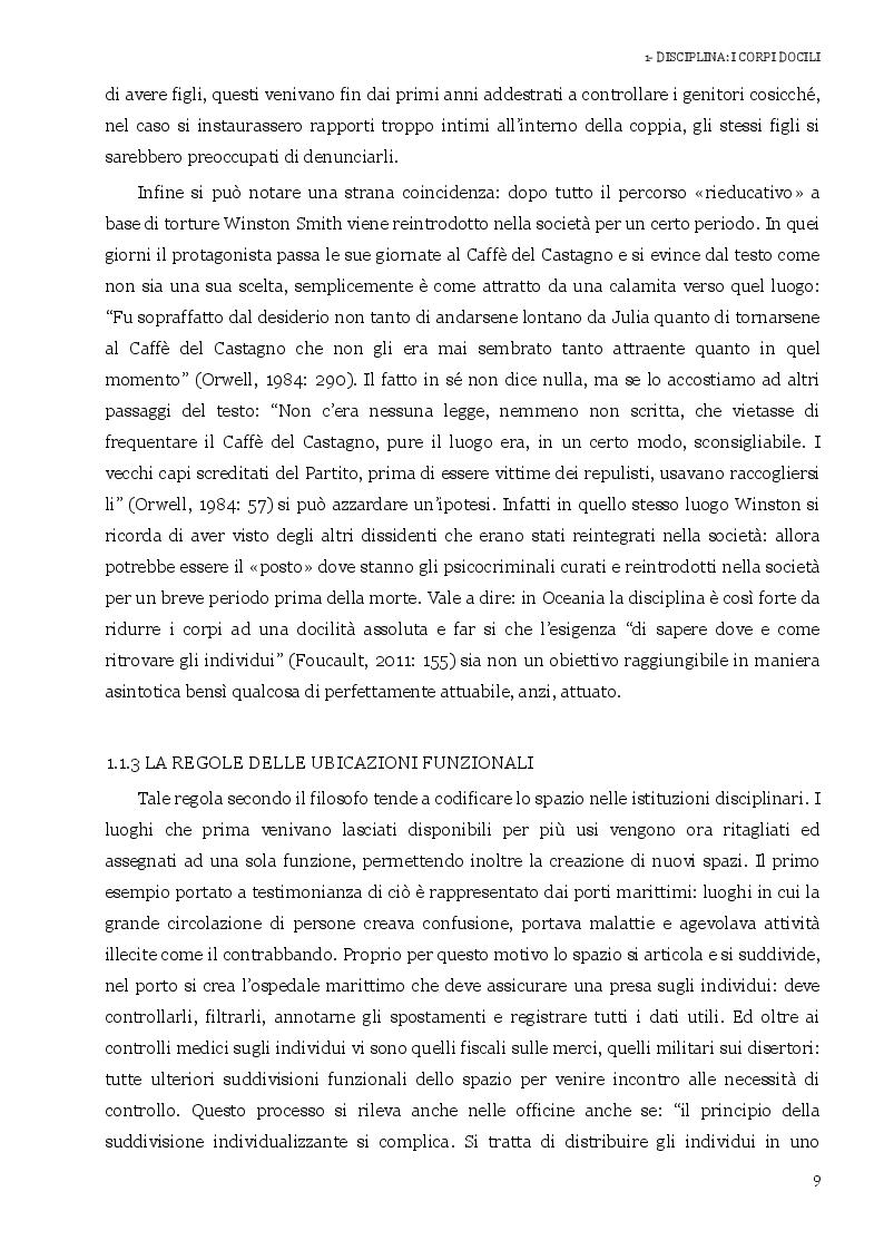 Estratto dalla tesi: 1984 alla luce di Michel Foucault