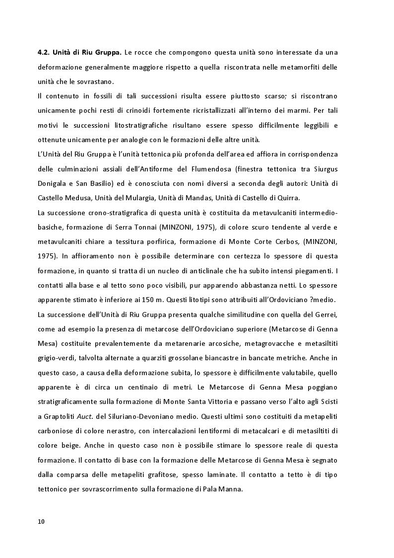 Estratto dalla tesi: Caratteristiche giacimentologiche e geologico-ambientali della miniera di Genna Tres Montis (Silius) - prospettive di rilancio economico e geoturistico