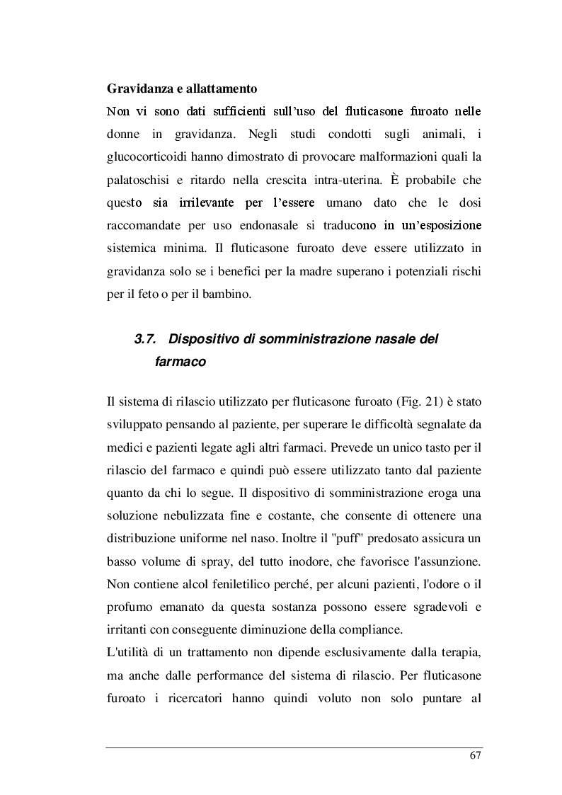 Estratto dalla tesi: Rinite allergica: Efficacia e tollerabilità della terapia con corticosteroidi intranasali.